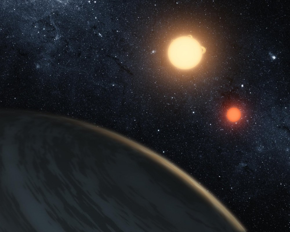 In a first, astronomers see two planets orbiting binary stars